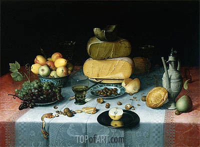 Still Life with Cheeses, c.1615/20 | Floris van Dijck | Painting Reproduction