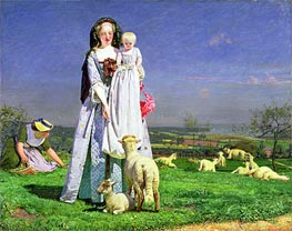 The Pretty Baa-Lambs, c.1851/59 by Ford Madox Brown | Painting Reproduction