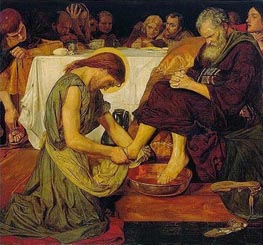 Jesus washing Peter's Feet, c.1852/56 by Ford Madox Brown | Painting Reproduction