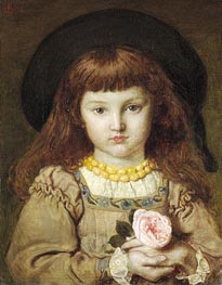 La Rose de l'Infante (Effie Stillman), 1876 by Ford Madox Brown | Painting Reproduction
