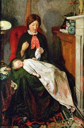 Waiting: an English Fireside of 1854-55 | Ford Madox Brown | Painting Reproduction