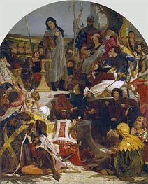 Chaucer at the Court of Edward III, c.1847/51 by Ford Madox Brown | Painting Reproduction