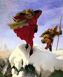 Manfred on the Jungfrau | Ford Madox Brown | Painting Reproduction