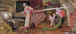 Crabtree Watching the Transit of Venus in 1639 | Ford Madox Brown | Painting Reproduction