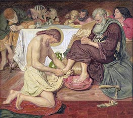 Jesus Washing Peter's Feet, 1876 by Ford Madox Brown | Painting Reproduction
