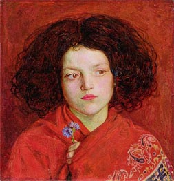 The Irish Girl, 1860 by Ford Madox Brown | Painting Reproduction
