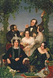 Family Group (The Bromley Family) | Ford Madox Brown | Painting Reproduction