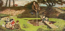 Dalton Collecting Marsh Fire Gas | Ford Madox Brown | Painting Reproduction