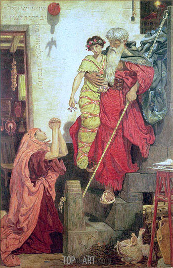 Elijah Restoring the Widow's Son, 1868 | Ford Madox Brown | Painting Reproduction