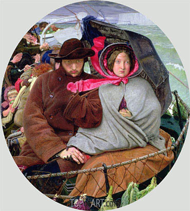 The Last of England, c.1852/55 | Ford Madox Brown | Painting Reproduction