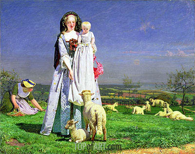 The Pretty Baa-Lambs, c.1851/59 | Ford Madox Brown | Gemälde Reproduktion