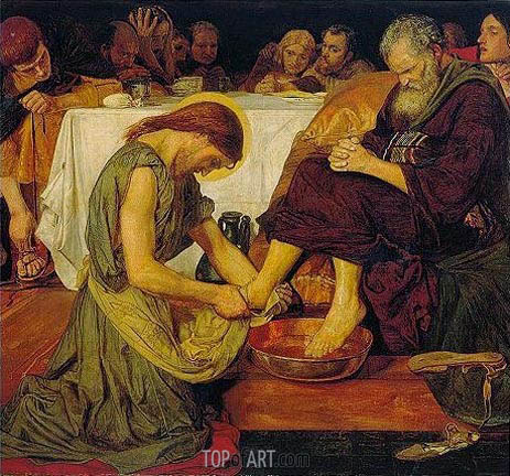 Jesus washing Peter's Feet, c.1852/56 | Ford Madox Brown | Painting Reproduction