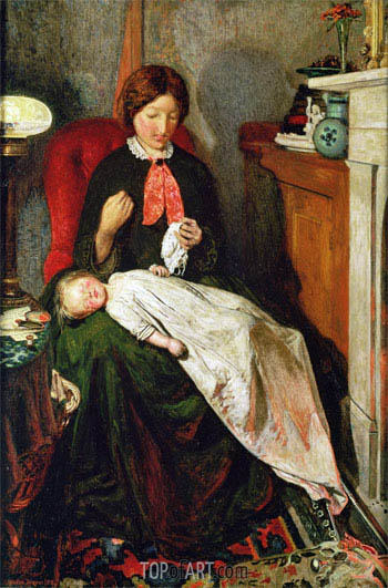 Waiting: an English Fireside of 1854-55, c.1851/55 | Ford Madox Brown | Painting Reproduction