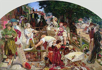 Work, 1863 | Ford Madox Brown | Painting Reproduction