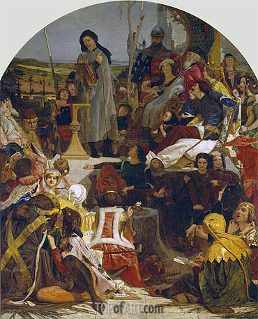 Chaucer at the Court of Edward III, c.1847/51 | Ford Madox Brown | Painting Reproduction