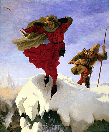 Manfred on the Jungfrau, c.1840/61 | Ford Madox Brown | Painting Reproduction