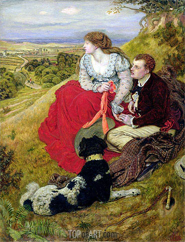Byron's Dream, 1874 | Ford Madox Brown | Gemälde Reproduktion