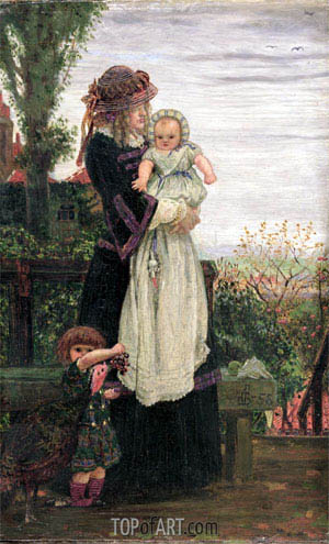 Out of Town, 1858 | Ford Madox Brown | Gemälde Reproduktion