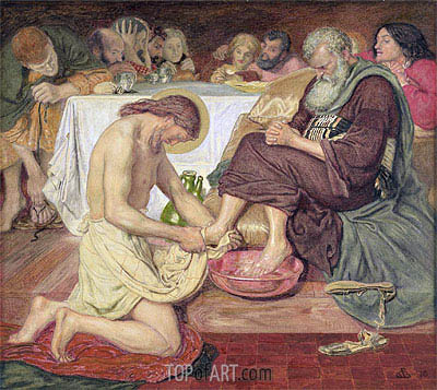 Jesus Washing Peter's Feet, 1876 | Ford Madox Brown | Painting Reproduction