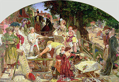 Work, 1863 | Ford Madox Brown | Gemälde Reproduktion