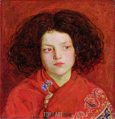 The Irish Girl, 1860 | Ford Madox Brown | Painting Reproduction
