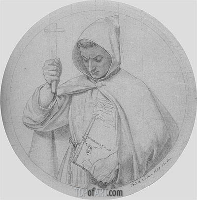 Study of a Monk, 1848 | Ford Madox Brown | Gemälde Reproduktion