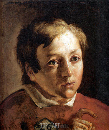 Head of a Page Boy, c.1837 | Ford Madox Brown | Painting Reproduction