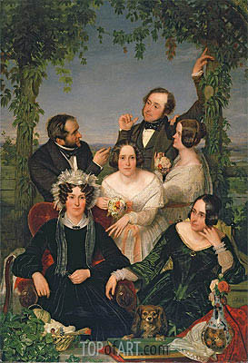 Family Group (The Bromley Family), 1844 | Ford Madox Brown | Gemälde Reproduktion
