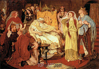 Cordelia's Portion, c.1867/75 | Ford Madox Brown | Painting Reproduction