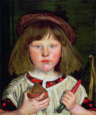 The English Boy, 1860 | Ford Madox Brown | Painting Reproduction
