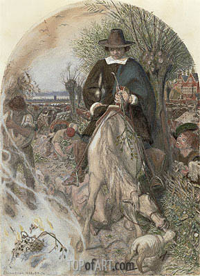 Title Cromwell on his Farm at St Ives, c.1853/74   Ford Madox Brown   Painting Reproduction