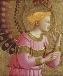 Annunciatory Angel, c.1450/55  by Fra Angelico | Painting Reproduction