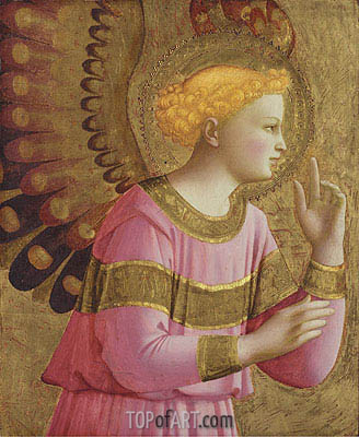 Annunciatory Angel, c.1450/55  | Fra Angelico | Painting Reproduction