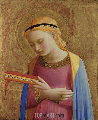 Virgin Annunciate, c.1450/55  | Fra Angelico | Painting Reproduction