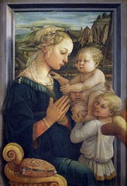 Madonna and Child with Angels, c.1455 by Fra Filippo Lippi | Painting Reproduction