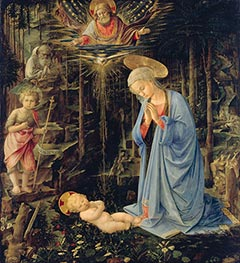 The Adoration in the Forest, 1459 by Fra Filippo Lippi | Painting Reproduction