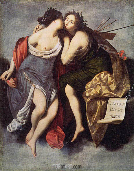 Poetry and Painting, 1626   Francesco Furini   Painting Reproduction