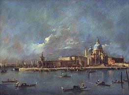 Santa Maria della Salute and The Old Customs House, c.1785 von Francesco Guardi | Gemälde-Reproduktion