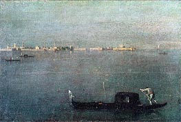 Gondola on the Lagoon, c.1793 by Francesco Guardi | Painting Reproduction