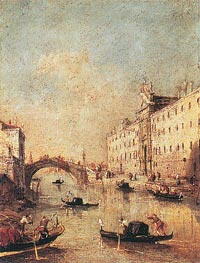Rio dei Mendicanti, c.1793 by Francesco Guardi | Painting Reproduction