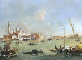 Venice: San Giorgio Maggiore with the Giudecca and the Zitelle, c.1760/76 by Francesco Guardi | Painting Reproduction