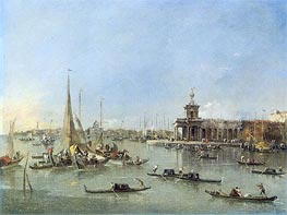 Venice: The Dogana with the Giudecca, c.1760/76 by Francesco Guardi | Painting Reproduction
