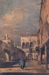 Courtyard in Venice, c.1775/80 by Francesco Guardi | Painting Reproduction
