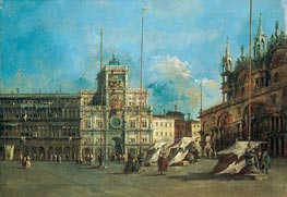 St. Mark's Square in Venice with the Clocktower, c.1770/75 by Francesco Guardi | Painting Reproduction