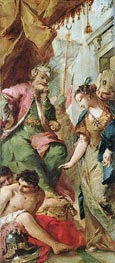 Sophronia Asking the Saracen King Aladine to Release the Christian Prisoners | Francesco Guardi | Gemälde Reproduktion
