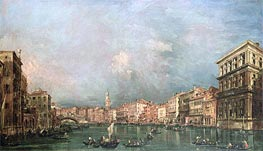 The Grand Canal, Venice, undated by Francesco Guardi | Painting Reproduction