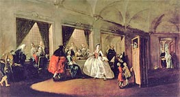 The Parlour of the San Zaccaria Convent, Undated by Francesco Guardi | Painting Reproduction
