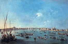 Regatta on the Canale della Guidecca, c.1784/89 by Francesco Guardi | Painting Reproduction