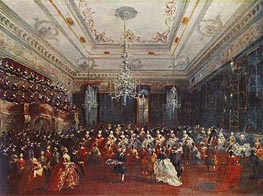 Venetian GalaConcert in the Sala dei Filarmonici, 1782 by Francesco Guardi | Painting Reproduction