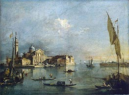 View of the Island of San Giorgio Maggiore | Francesco Guardi | Painting Reproduction